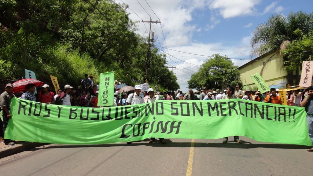 COPINH - rios y bosques no son mercancia