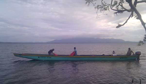 Once you get off the jeep in the Mosquitia, there is no way to progress further but on boats like these motorised canoes